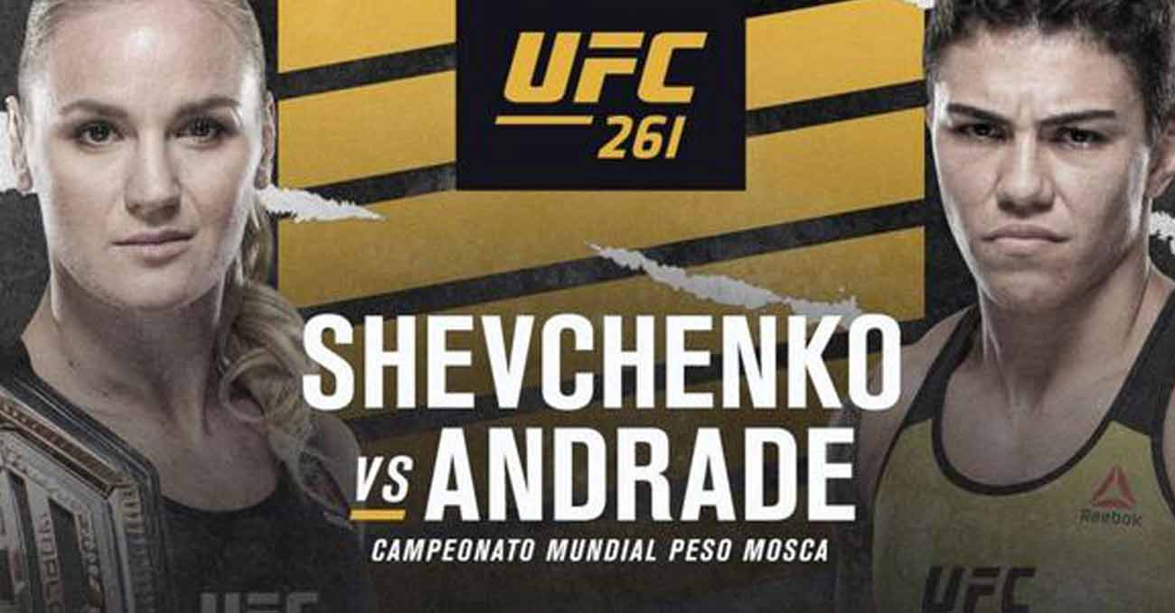 Valentina Shevchenko vs Jessica Andrade full fight video UFC 261 poster