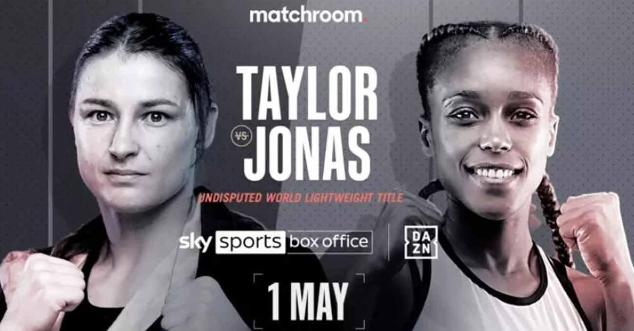 Katie Taylor vs Natasha Jonas full fight video poster 2021-05-01
