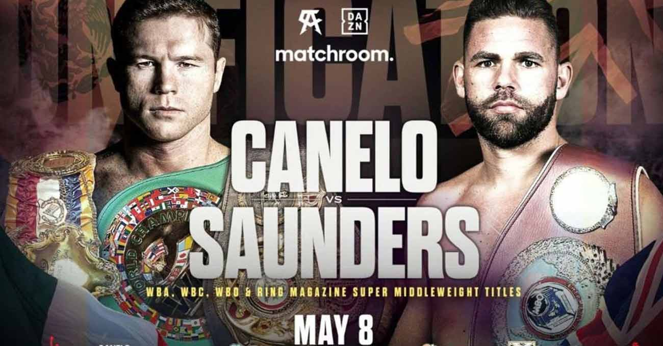 Saul Canelo Alvarez vs Billy Joe Saunders full fight video poster 2021-05-08