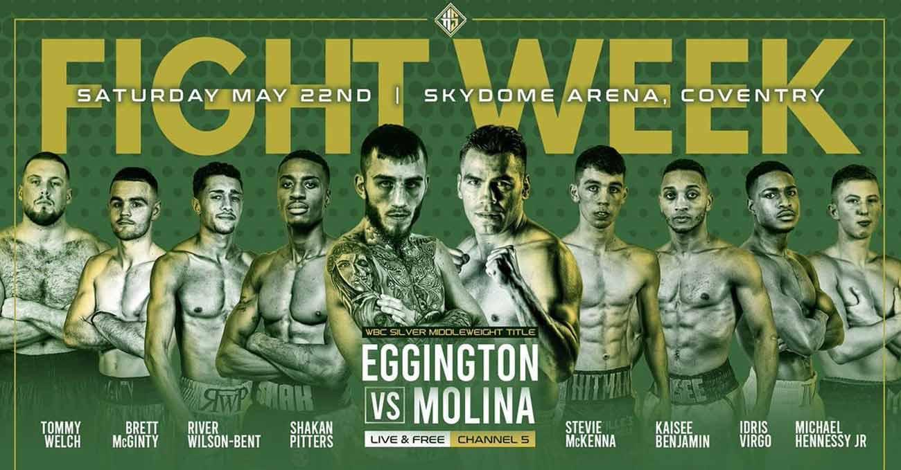 Sam Eggington vs Carlos Molina full fight video poster 2021-05-22