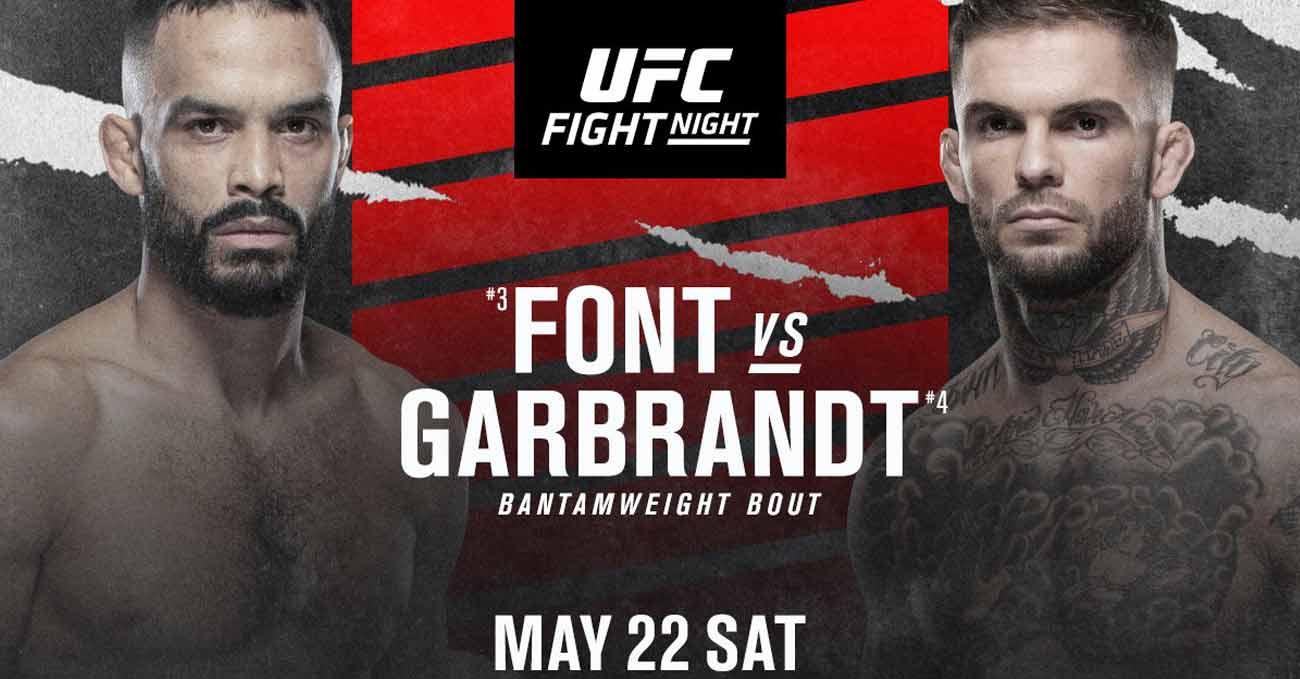 Rob Font vs Cody Garbrandt full fight video UFC Vegas 27 poster