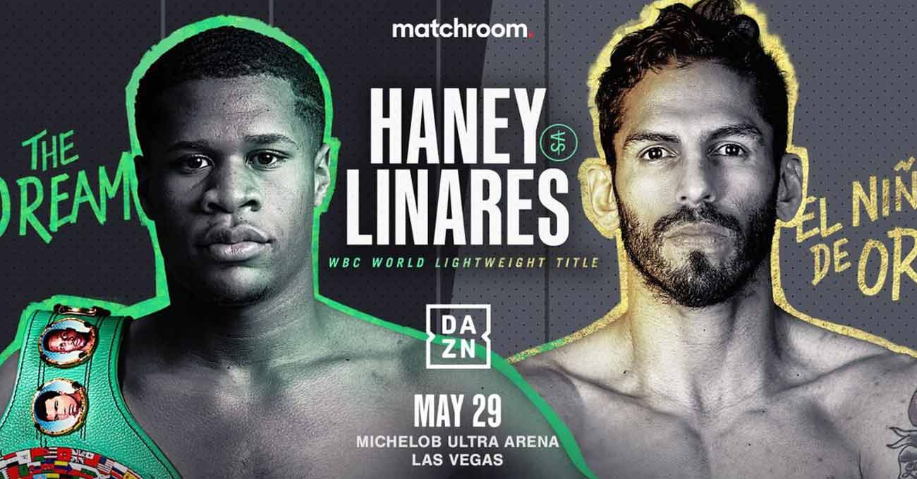Devin Haney vs Jorge Linares full fight video poster 2021-05-29