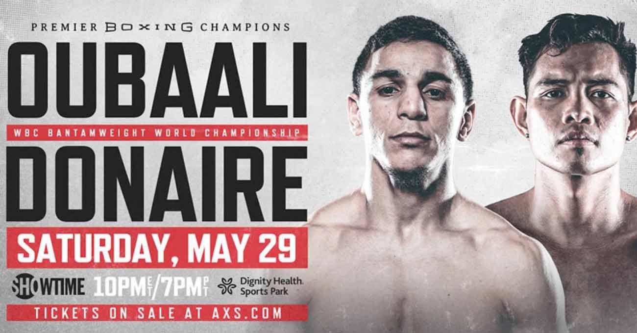 Nordine Oubaali vs Nonito Donaire full fight video poster 2021-05-29