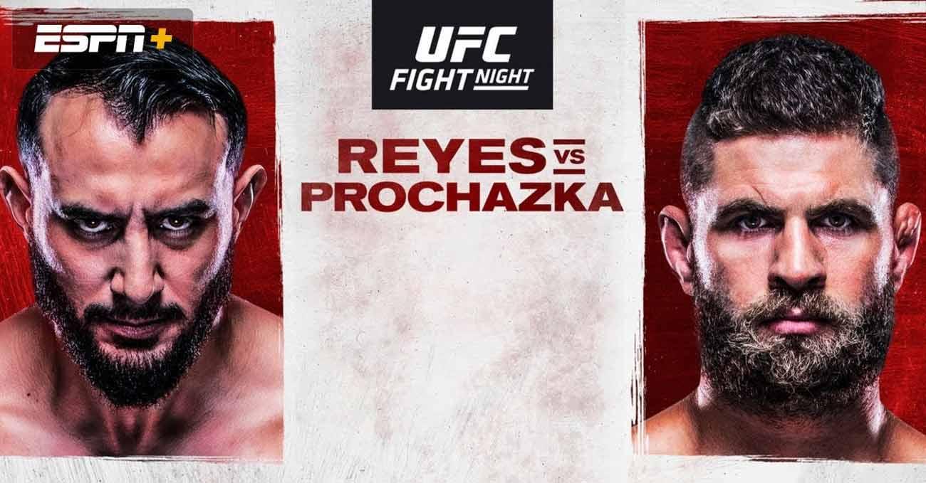 Dominick Reyes vs Jiri Prochazka full fight video UFC Vegas 25 poster