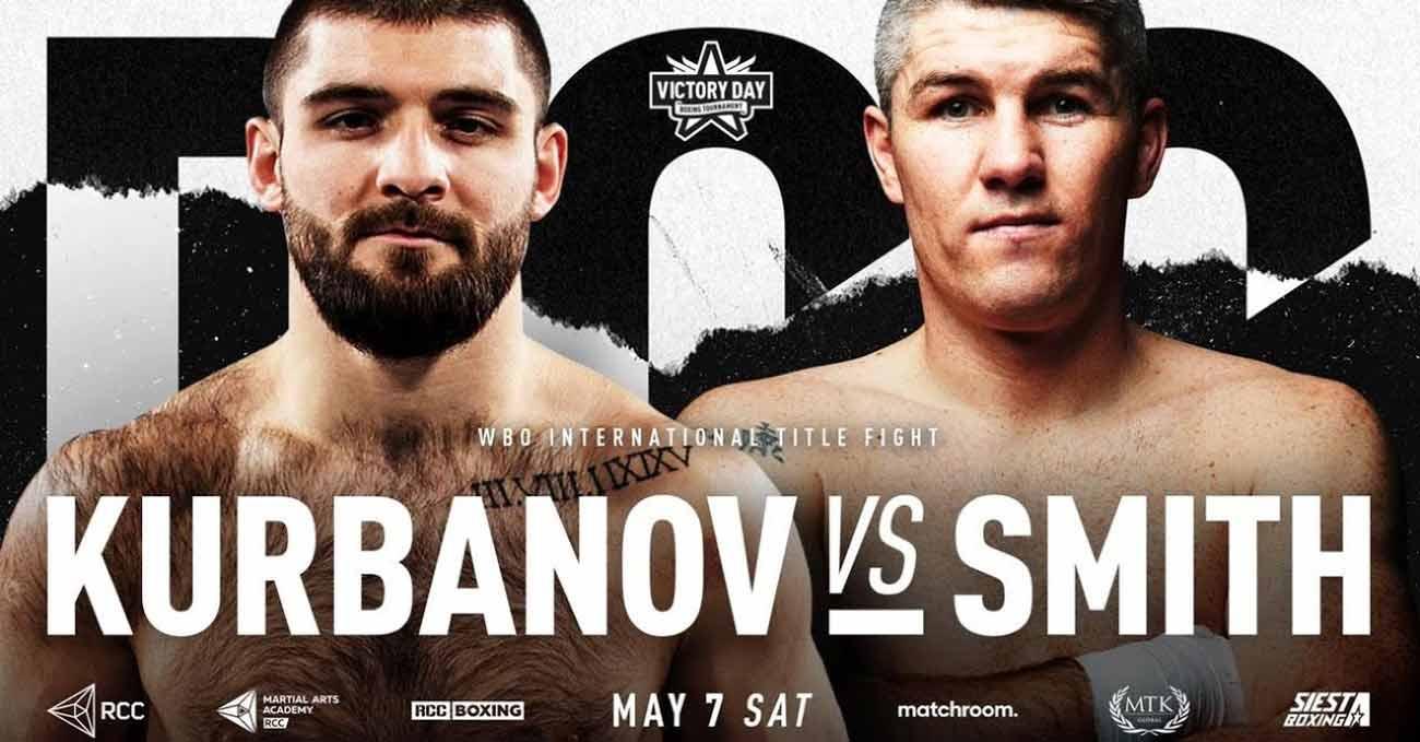 Liam Smith vs Magomed Kurbanov full fight video poster 2021-05-07