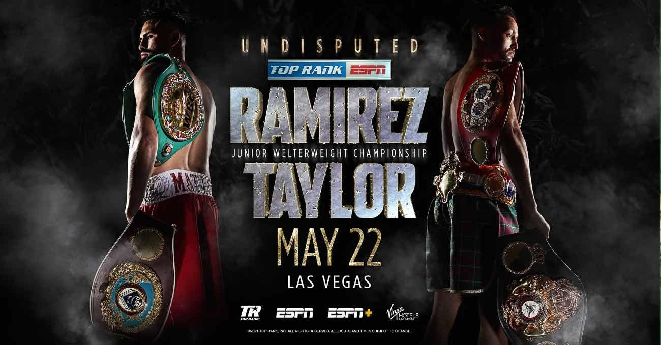 Josh Taylor vs Jose Carlos Ramirez full fight video poster 2021-05-22