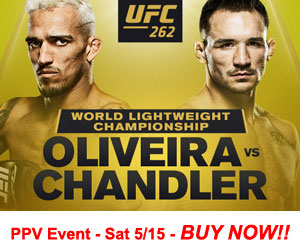 Buy the PPV event UFC 262 Oliveira vs Chandler