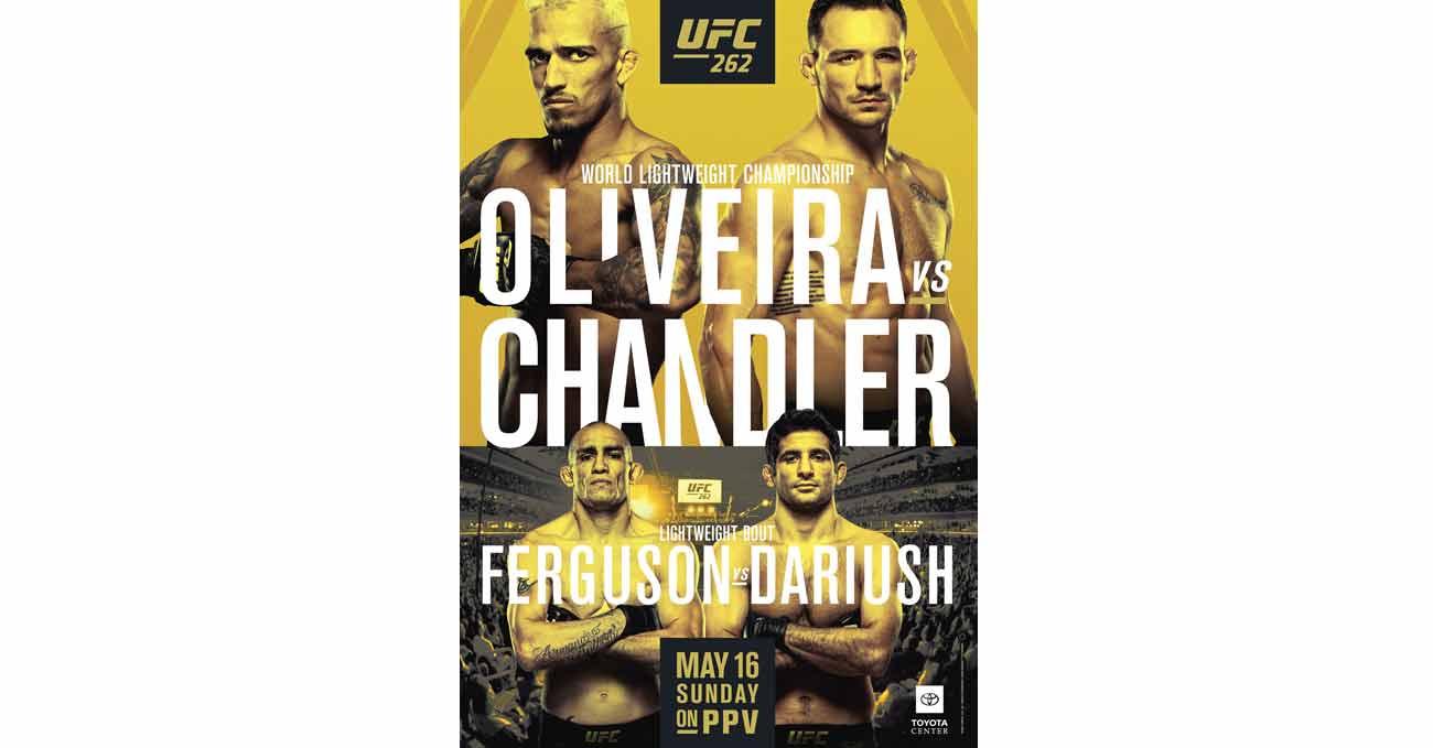 Poster of UFC 262: Oliveira vs Chandler