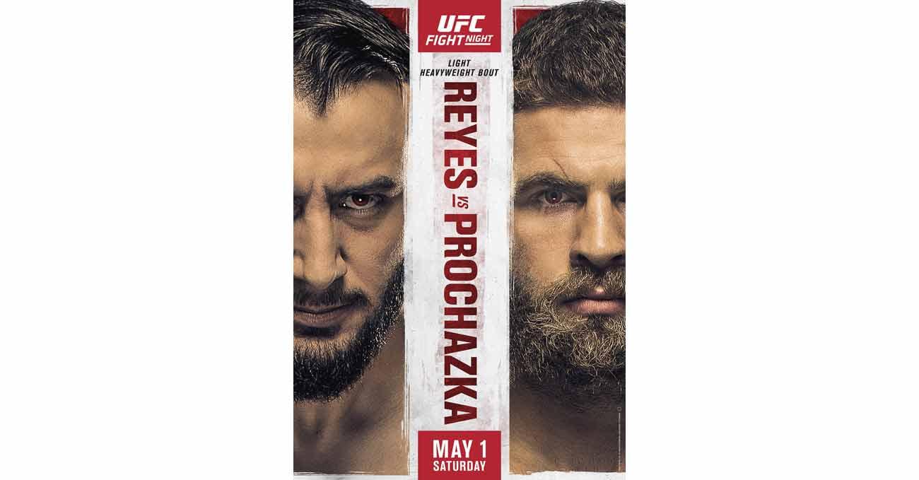 Ufc Vegas 25 poster Reyes vs Prochazka