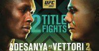 Poster of Adesanya vs Vettori 2 Ufc 263