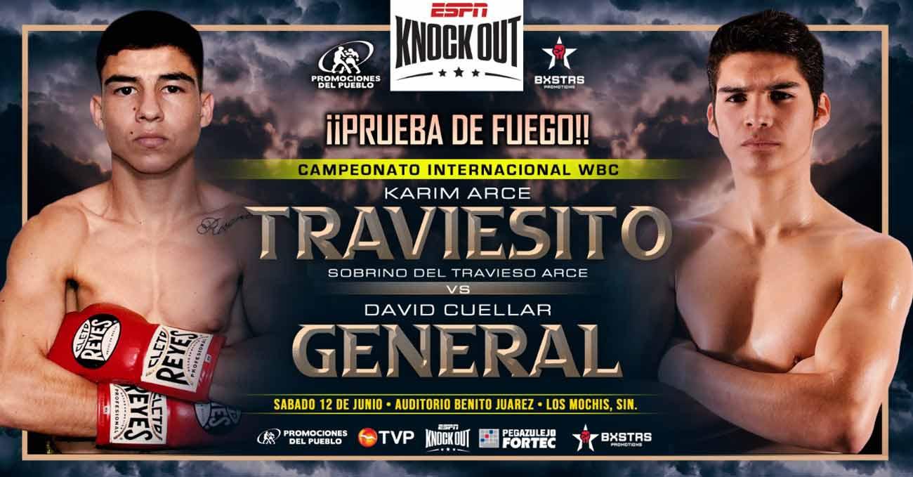 Karim Arce vs David Fernando Cuellar full fight video poster 2021-06-12