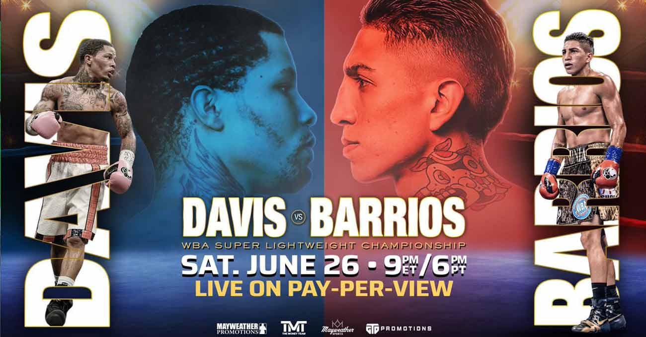 Gervonta Davis vs Mario Barrios full fight video poster 2021-06-26