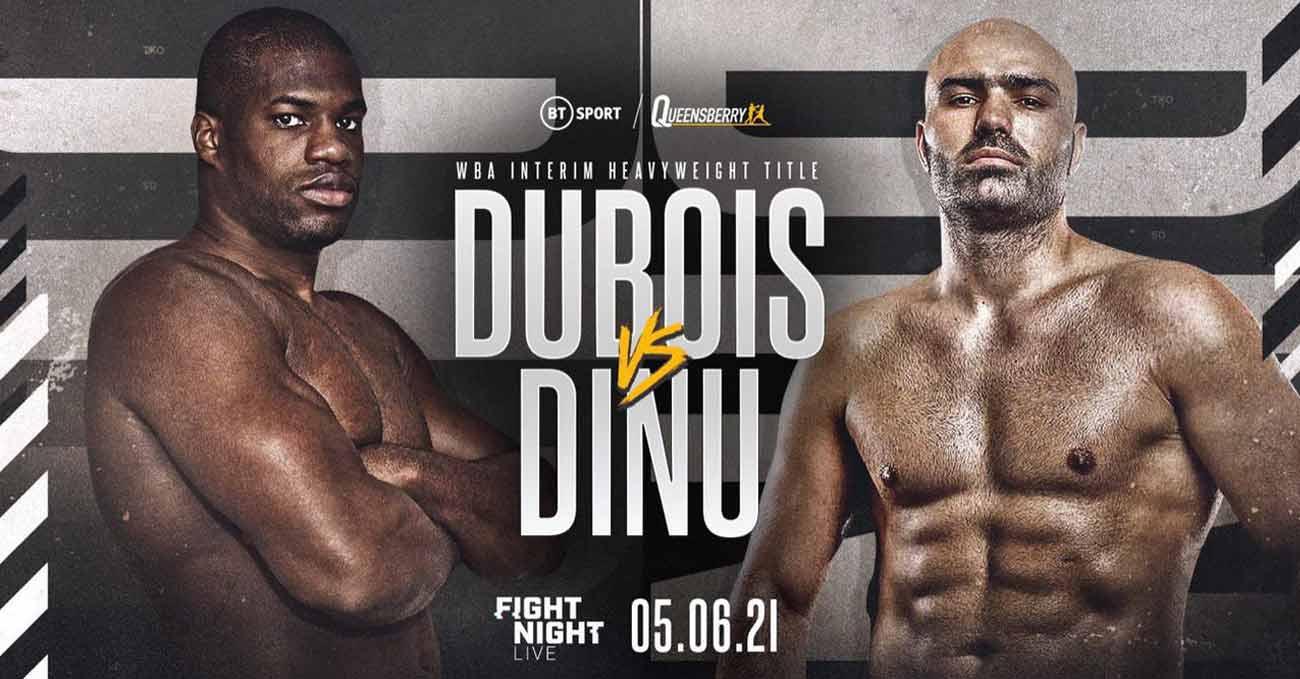 Daniel Dubois vs Bogdan Dinu full fight video poster 2021-06-05