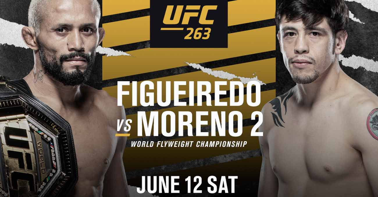 Deiveson Figueiredo vs Brandon Moreno 2 full fight video UFC 263 poster