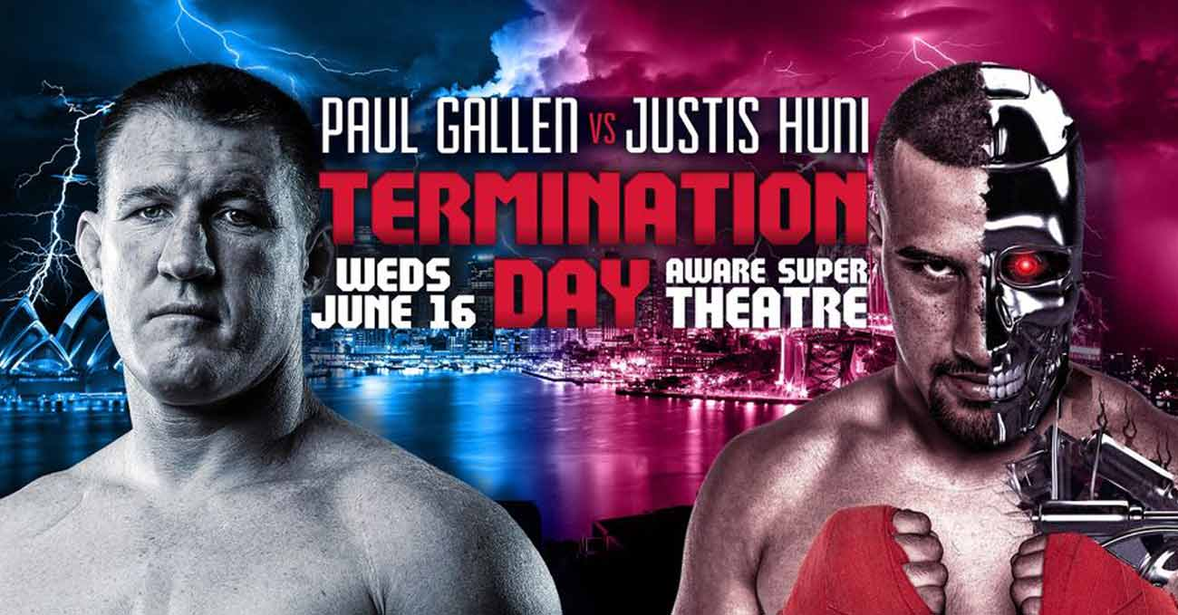 Paul Gallen vs Justis Huni full fight video poster 2021-06-16