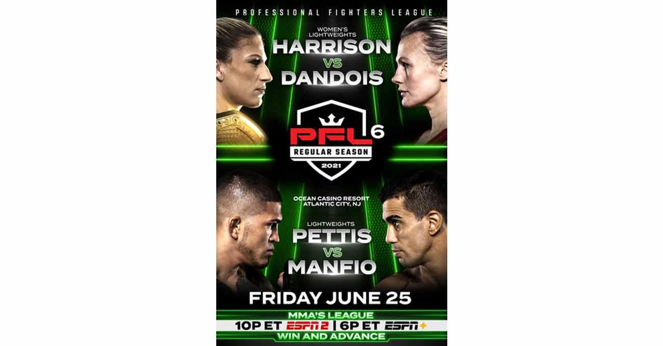 Kayla Harrison vs Cindy Dandois full fight video PFL 6 poster