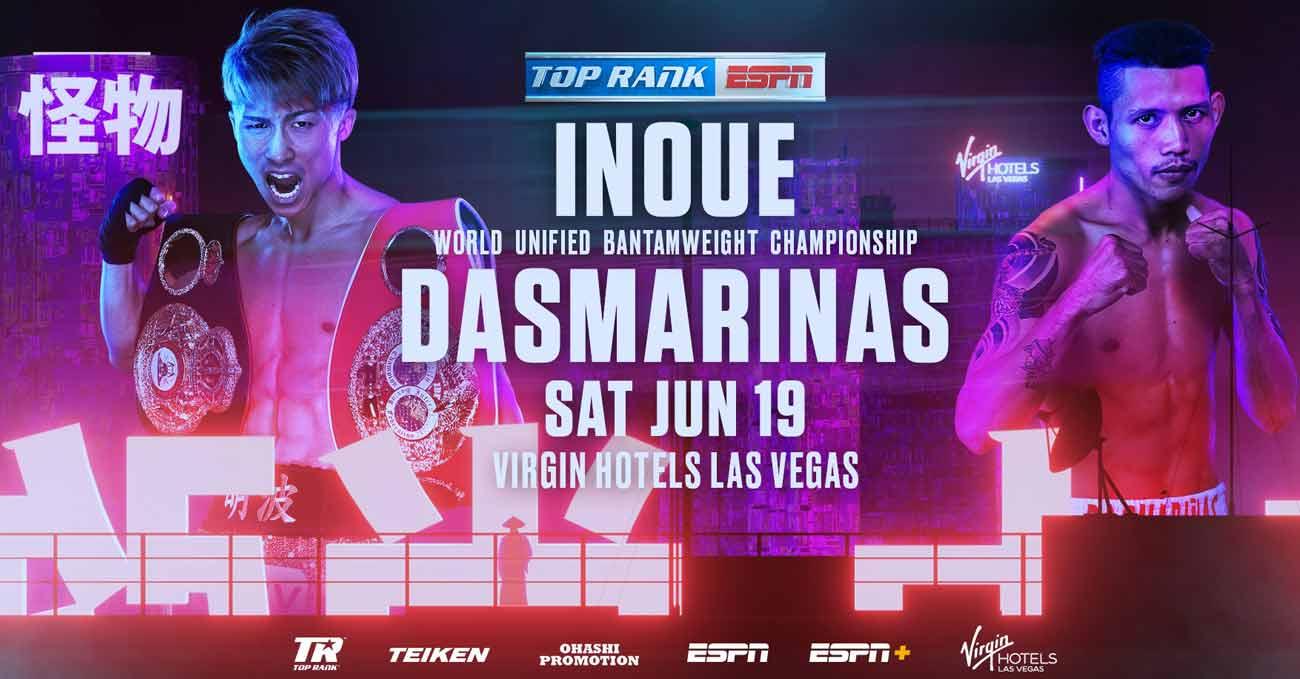 Naoya Inoue vs Michael Dasmarinas full fight video poster 2021-06-19