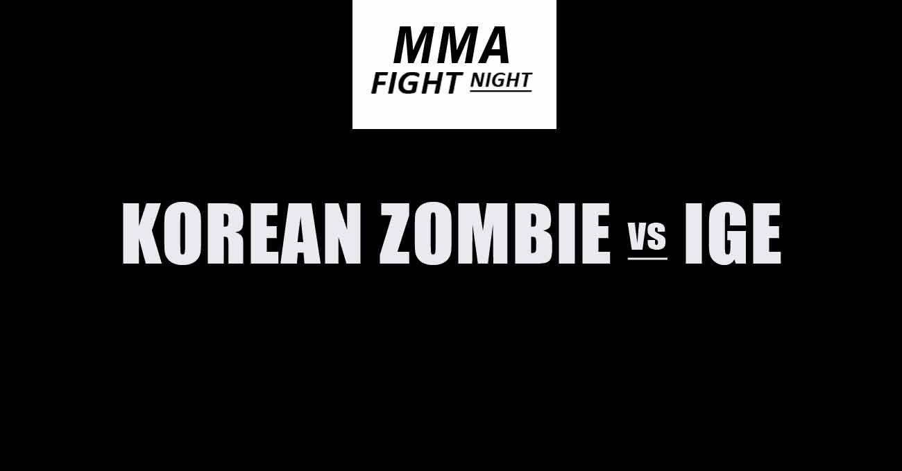 Chan Sung Jung vs Dan Ige full fight video UFC Vegas 29 poster