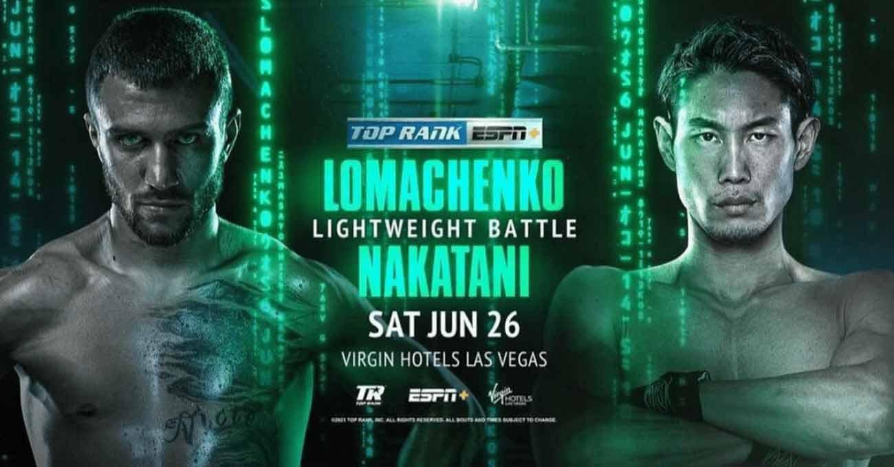Vasyl Lomachenko vs Masayoshi Nakatani full fight video poster 2021-06-26