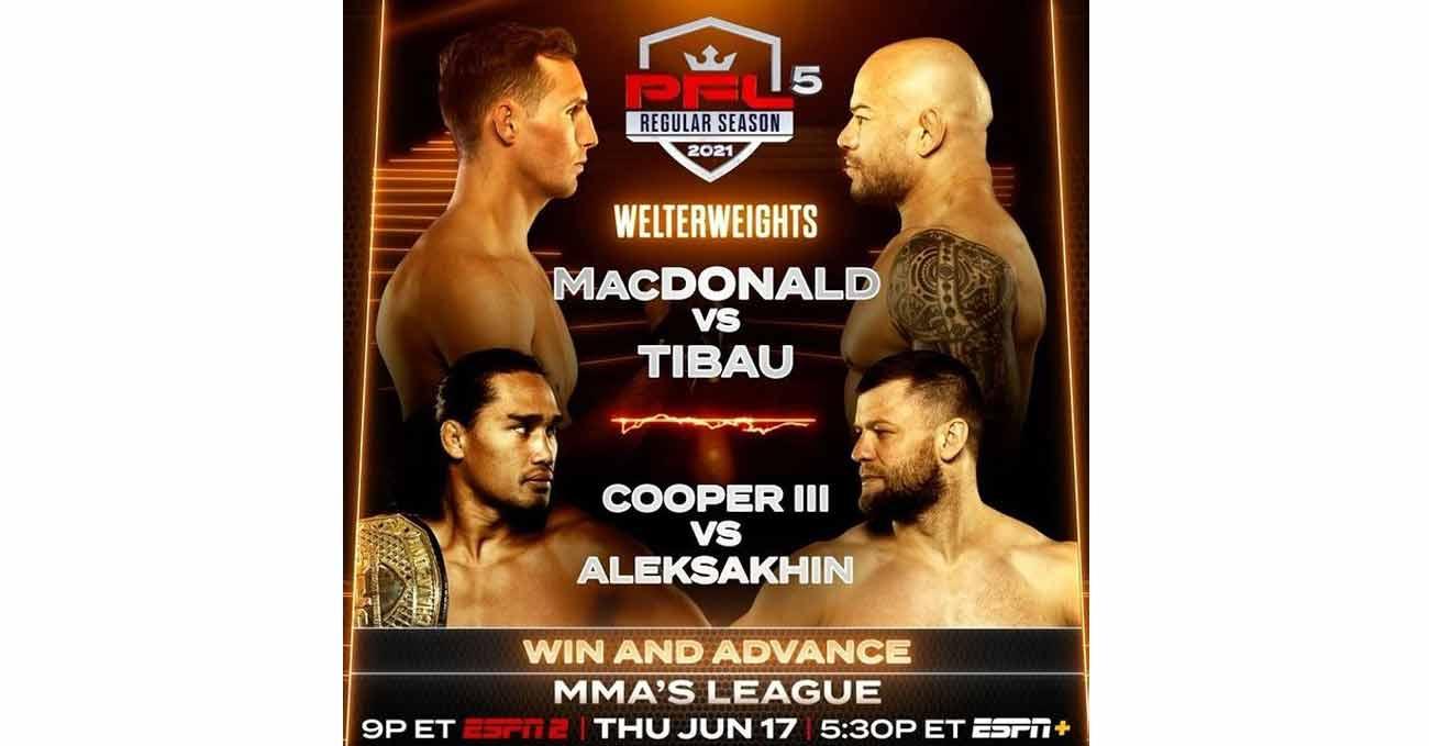 Rory MacDonald vs Gleison Tibau full fight video PFL 5 poster