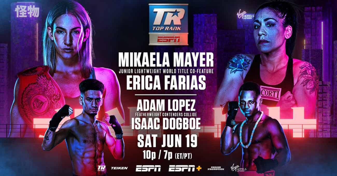 Mikaela Mayer vs Erica Anabella Farias full fight video poster 2021-06-19