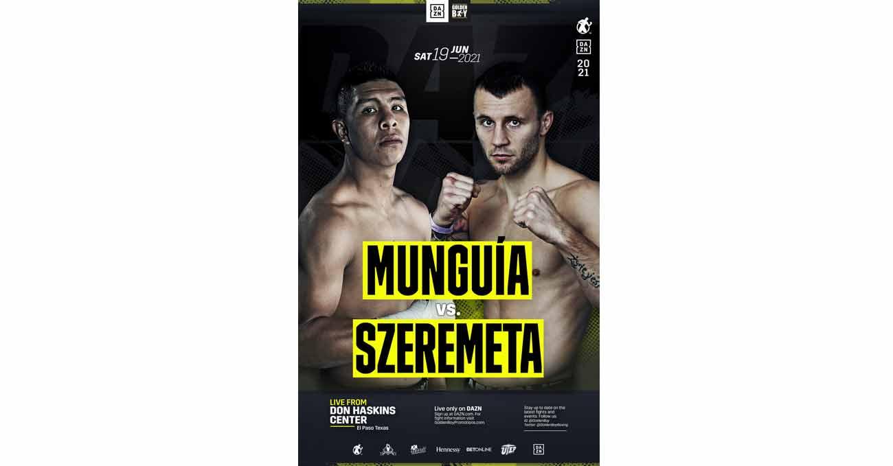Jaime Munguia vs Kamil Szeremeta full fight video poster 2021-06-19
