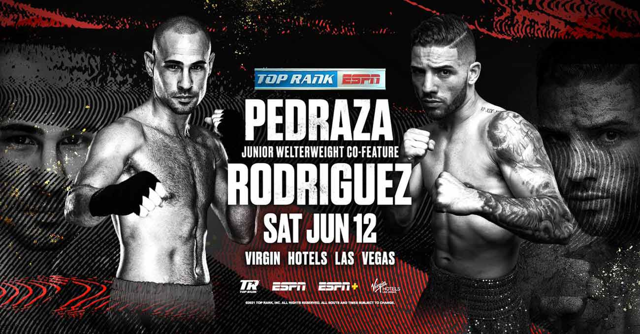 Jose Pedraza vs Julian Rodriguez full fight video poster 2021-06-12