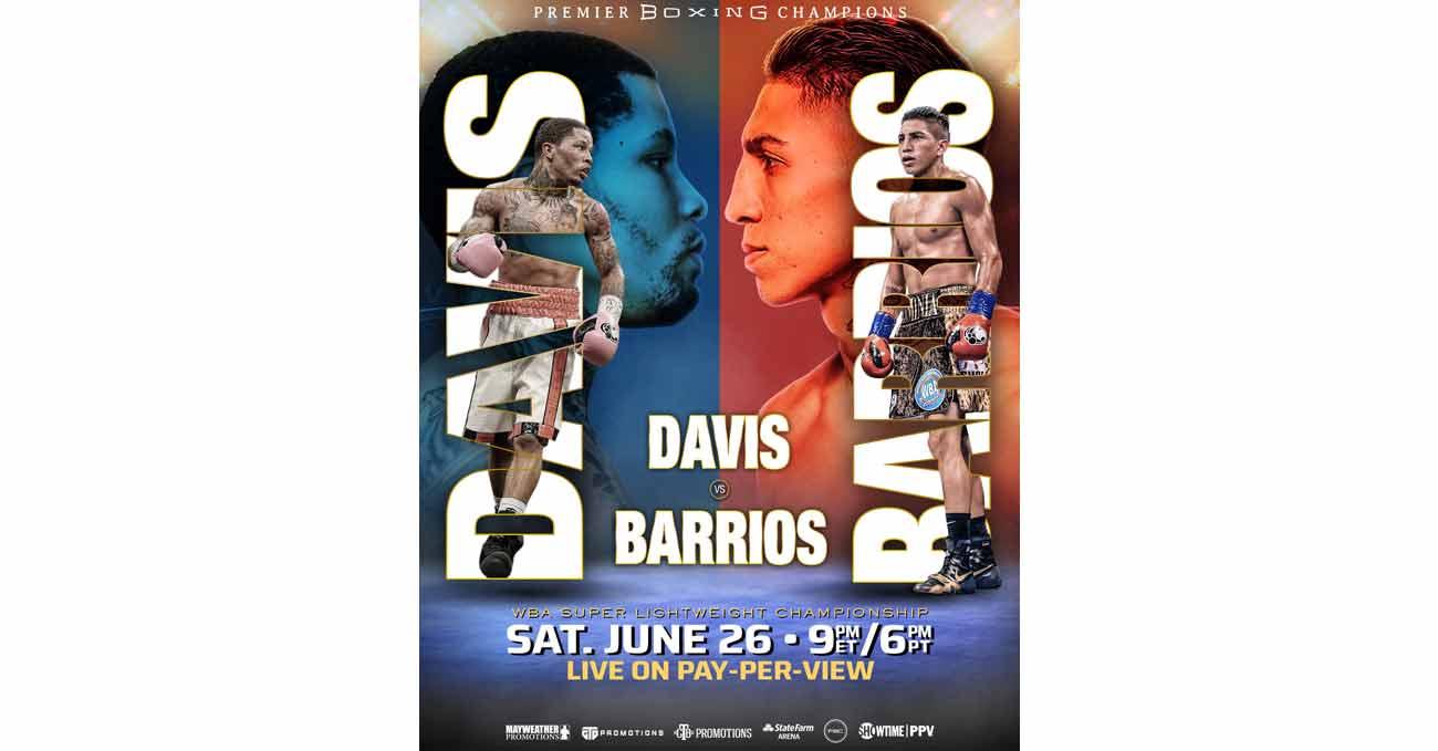 Poster of Davis vs Barrios 2021-06-26