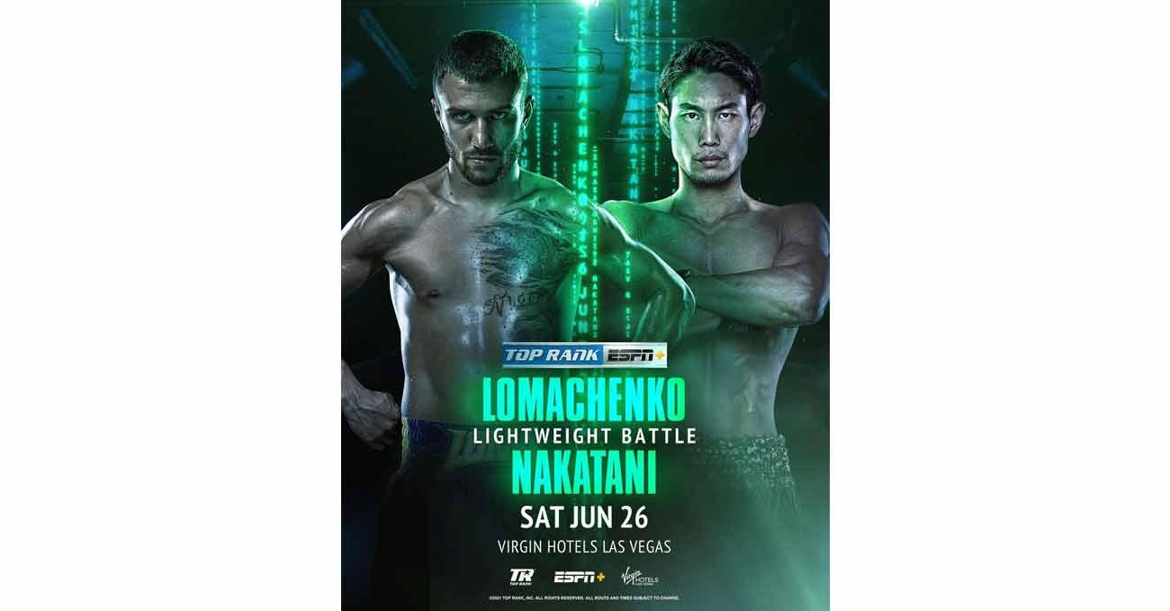 Poster of Lomachenko vs Nakatani 2021-06-26