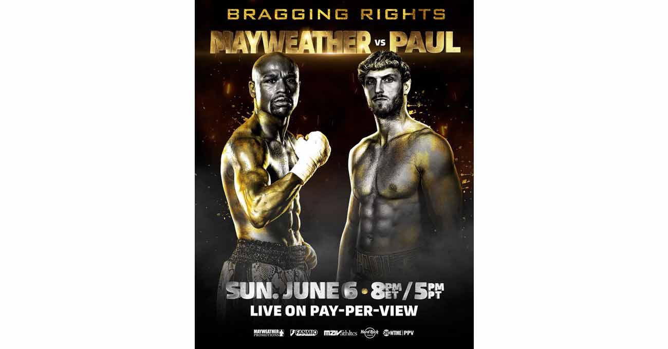 Poster of Mayweather vs Paul 2021-06-06