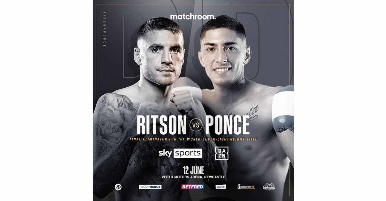 Lewis Ritson vs Jeremias Nicolas Ponce full fight video poster 2021-06-12