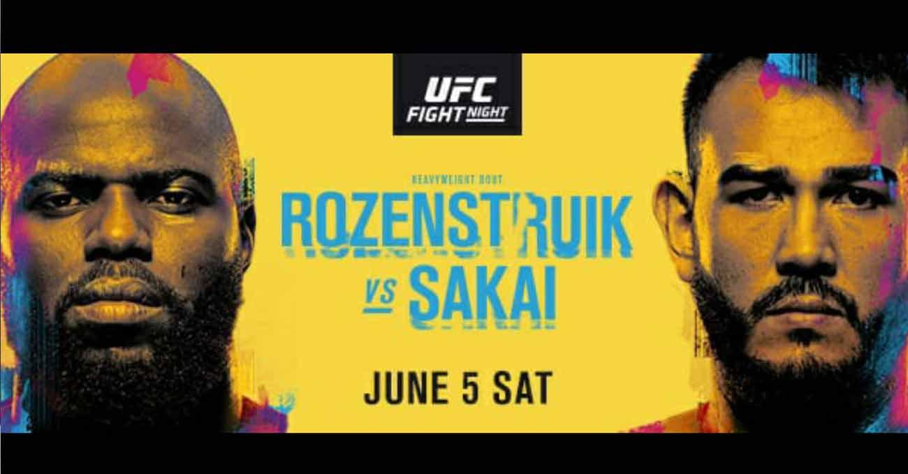 Jairzinho Rozenstruik vs Augusto Sakai full fight video UFC Vegas 28 poster