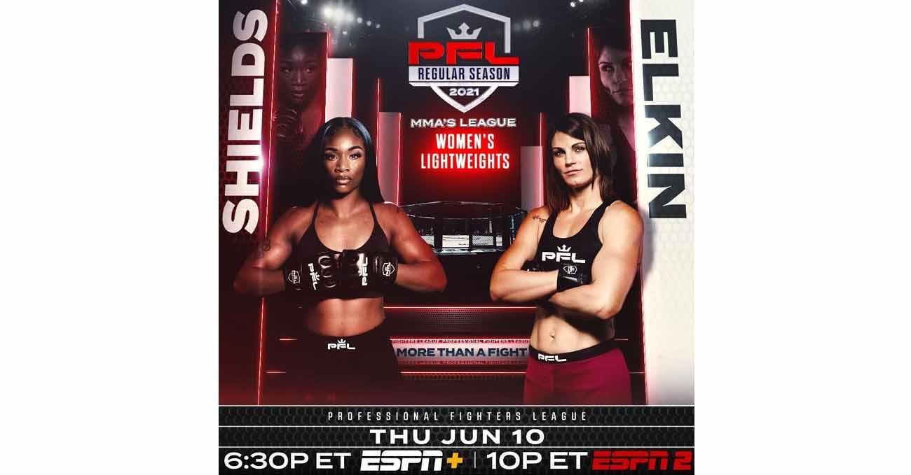 Claressa Shields vs Brittney Elkin full fight video PFL 4 poster