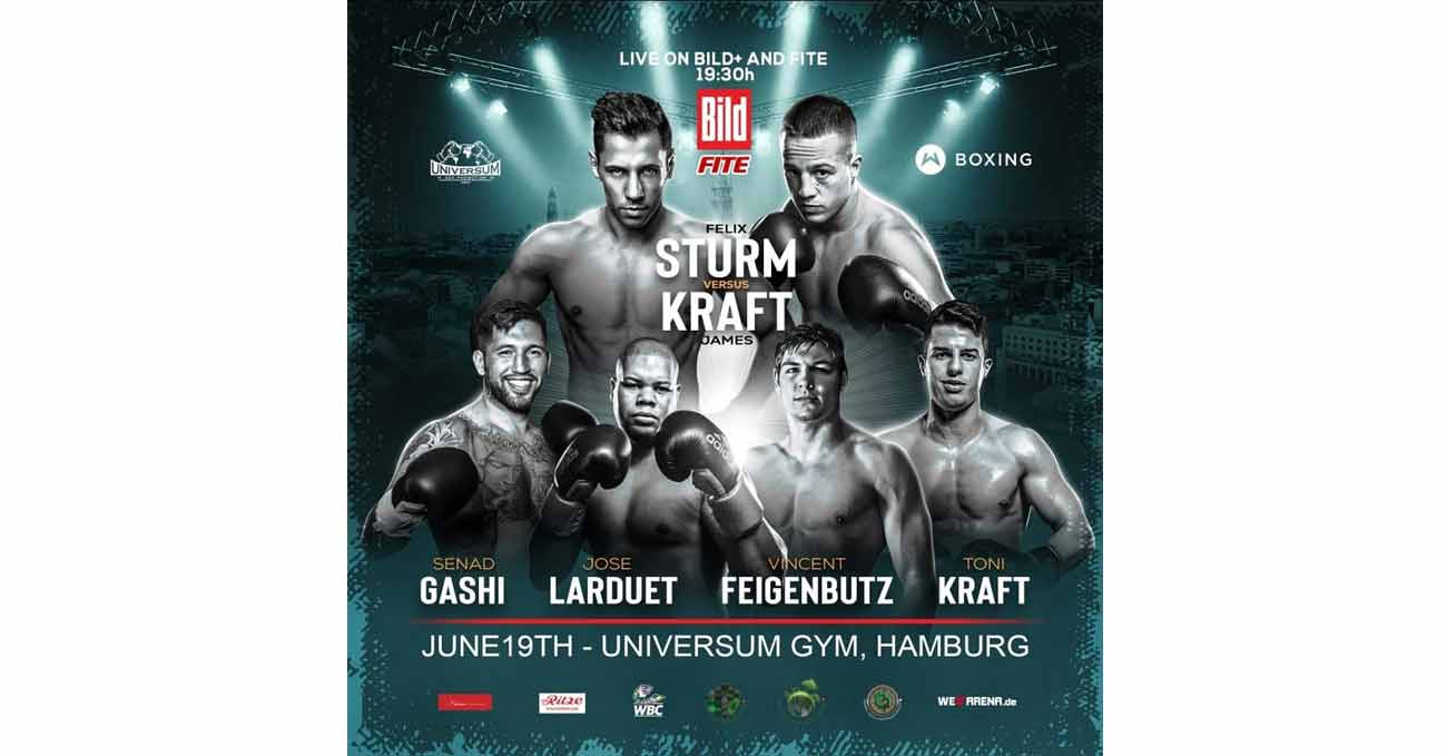 Felix Sturm vs James Kraft full fight video poster 2021-06-19
