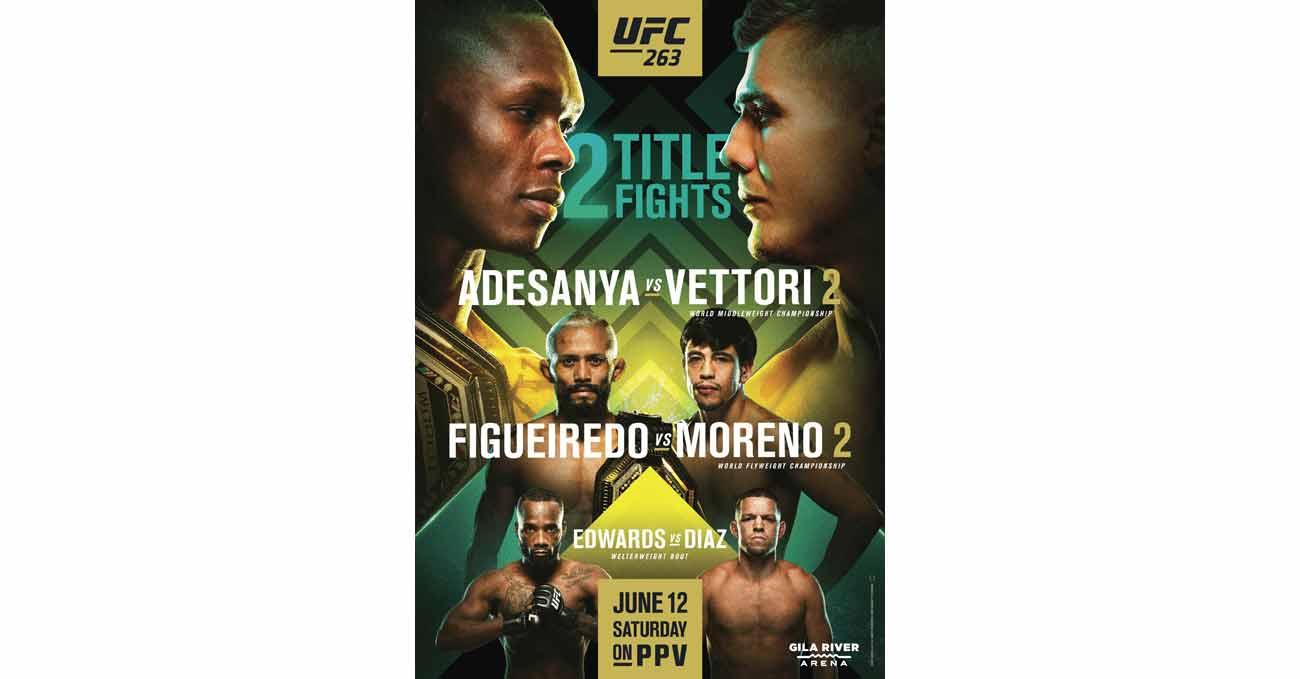 Poster of UFC 263: Adesanya vs Vettori 2