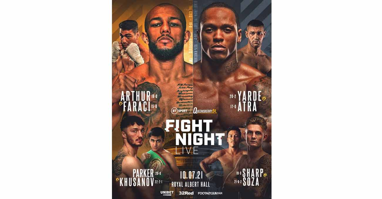 Lyndon Arthur vs Davide Faraci full fight video poster 2021-07-10