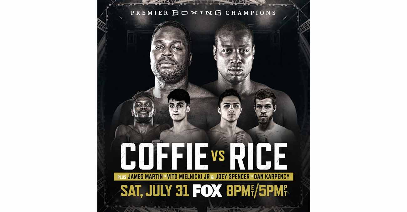 Michael Polite Coffie vs Jonathan Rice full fight video poster 2021-07-31