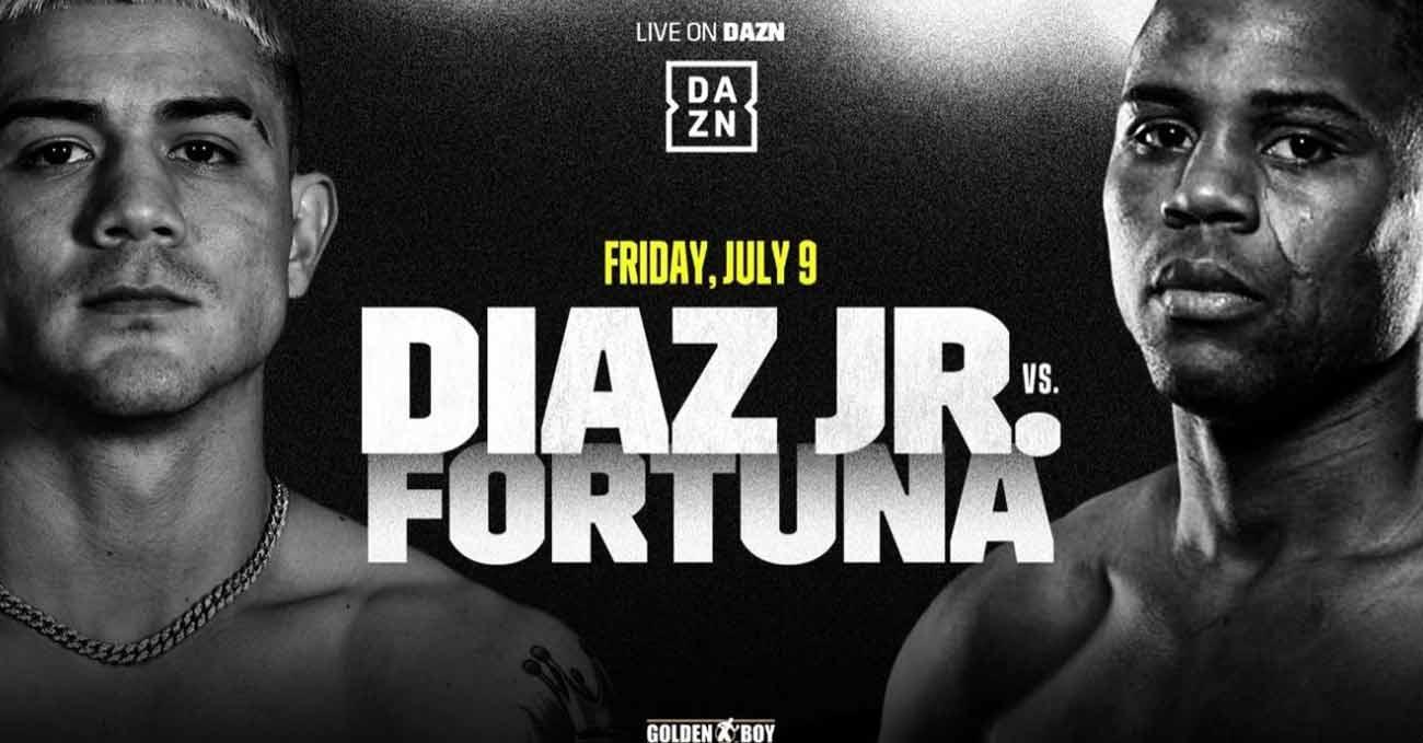 Joseph Diaz vs Javier Fortuna full fight video poster 2021-07-09