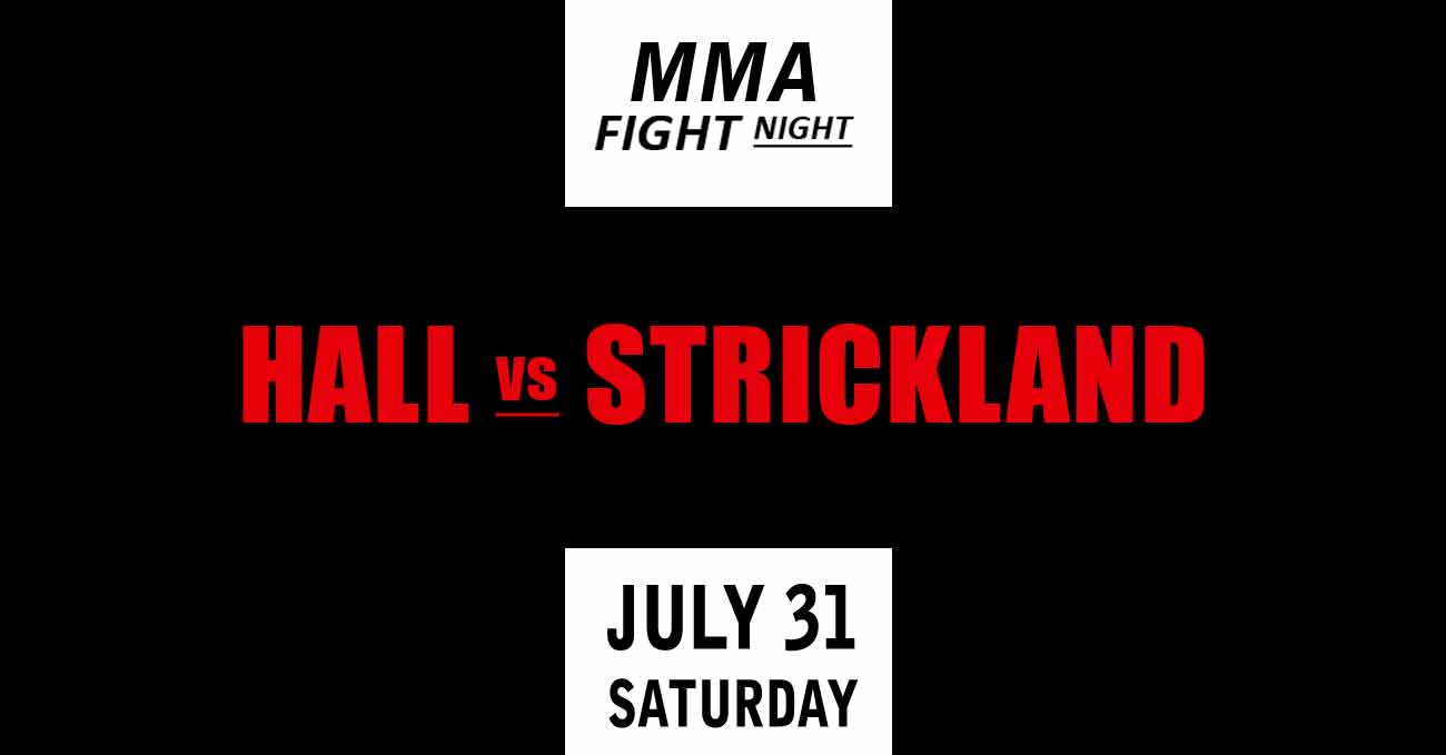Uriah Hall vs Sean Strickland full fight video UFC Vegas 33 poster by ATBF