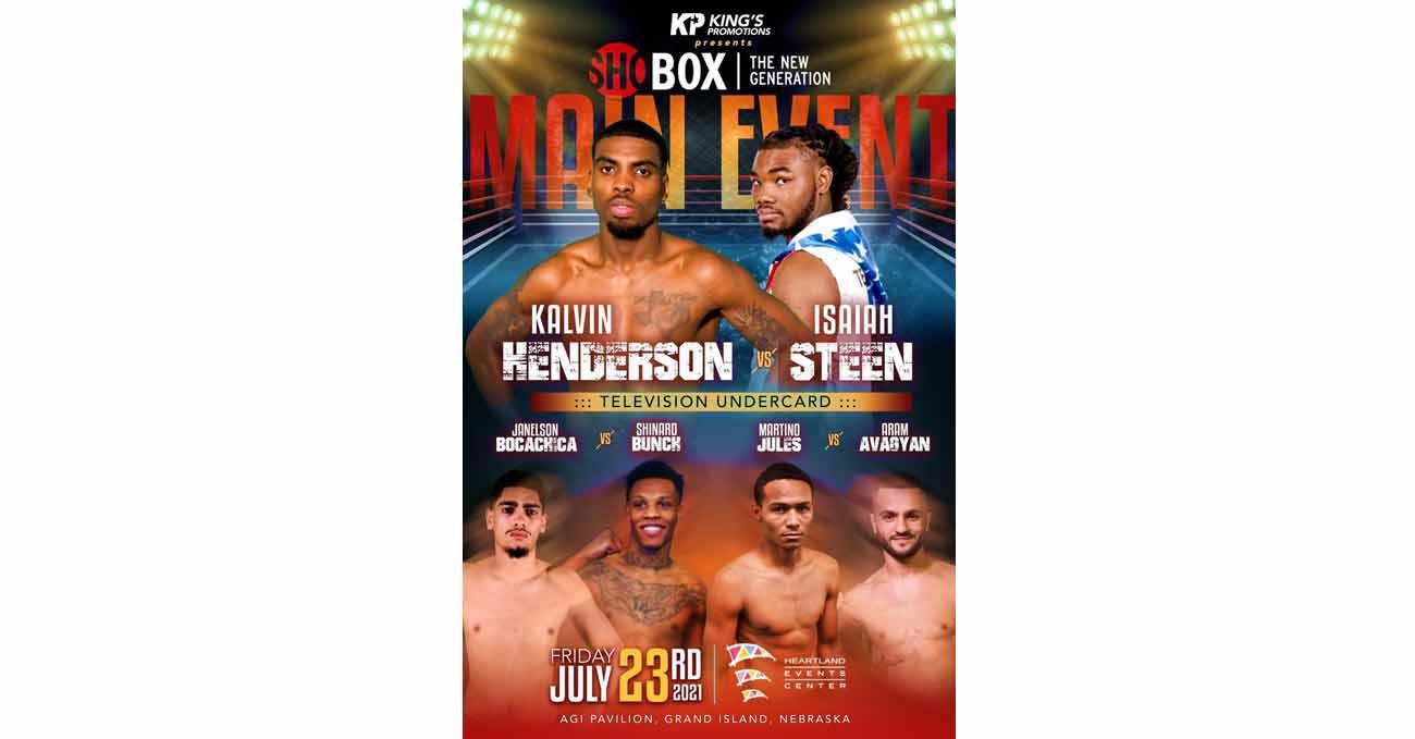 Kalvin Henderson vs Isaiah Steen full fight video poster 2021-07-23