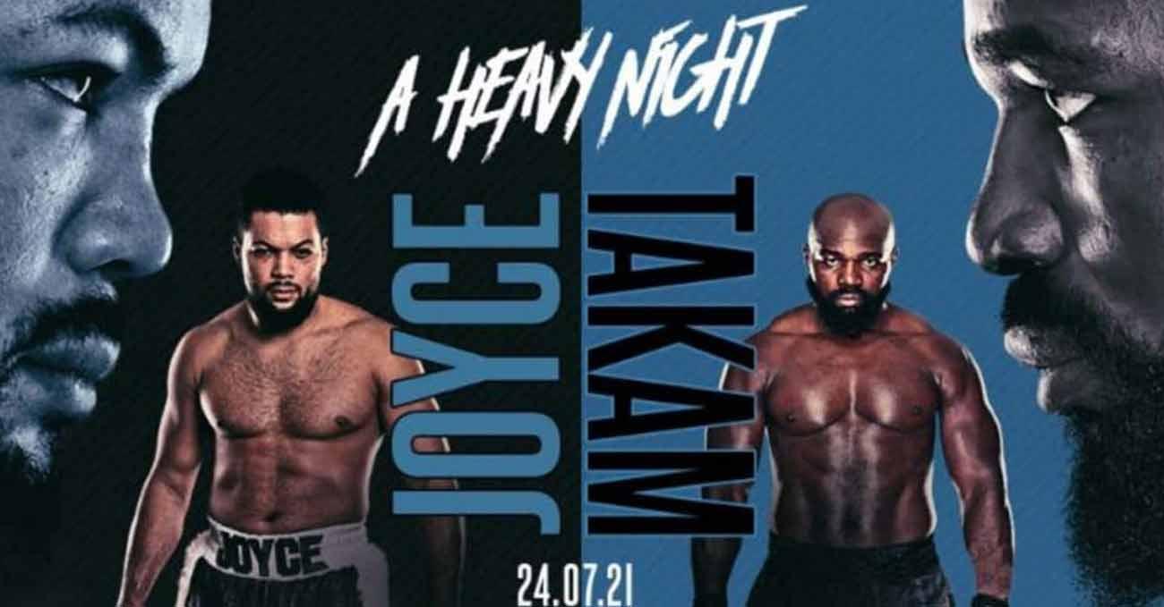 Joe Joyce vs Carlos Takam full fight video poster 2021-07-24