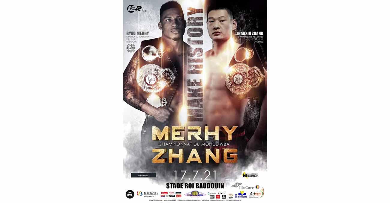 Ryad Merhy vs Zhaoxin Zhang full fight video poster 2021-07-17