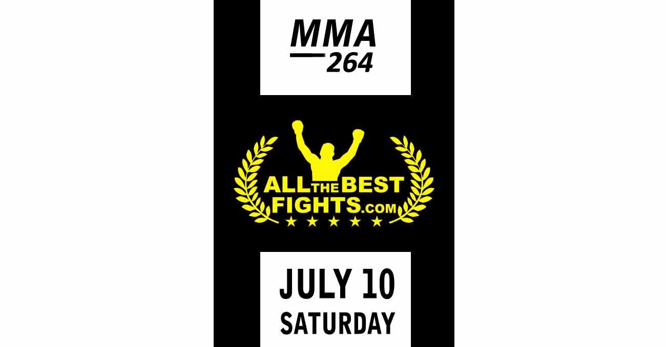 poster designed by AllTheBestFights.com for ufc 264 2021-07-10