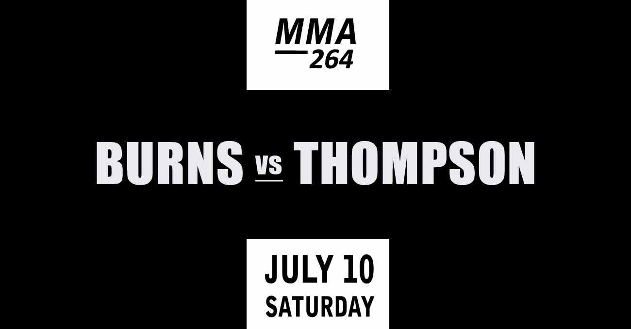 Gilbert Burns vs Stephen Thompson full fight video UFC 264 poster