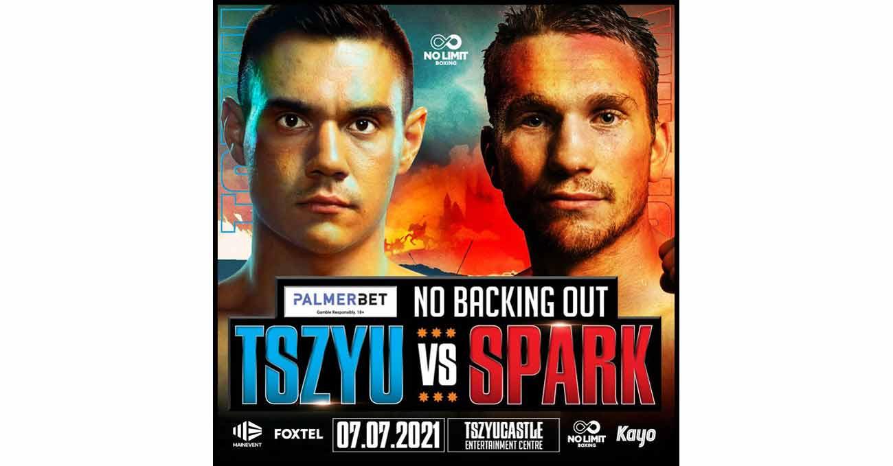 Tim Tszyu vs Steve Spark full fight video poster 2021-07-07