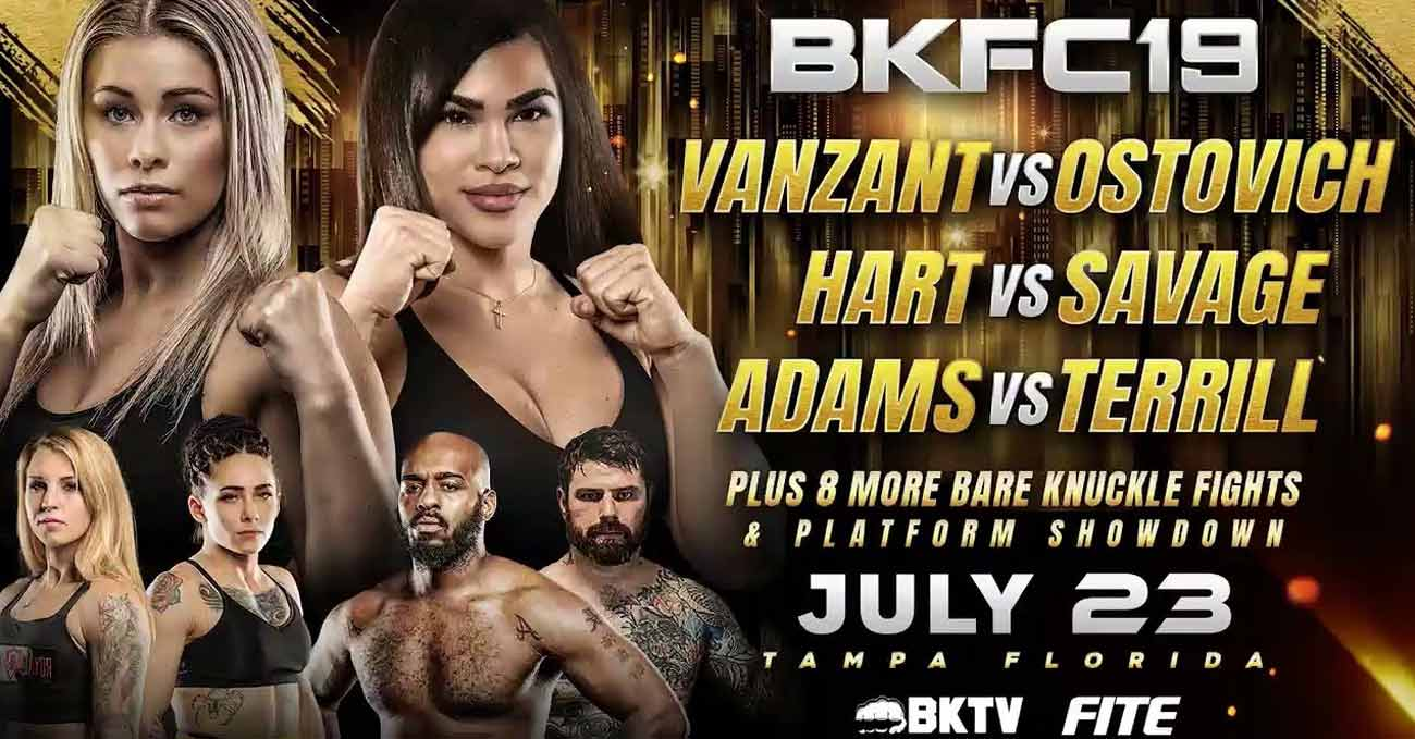 Paige VanZant vs Rachael Ostovich 2 full fight video BKFC 19 poster