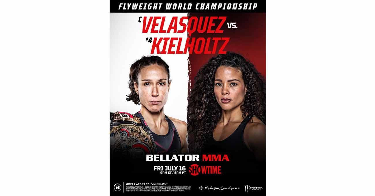 Juliana Velasquez vs Denise Kielholtz full fight video Bellator 262 poster