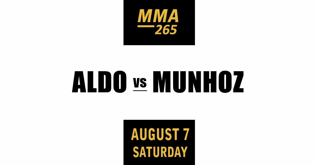 Jose Aldo vs Pedro Munhoz full fight video UFC 265 poster by ATBF