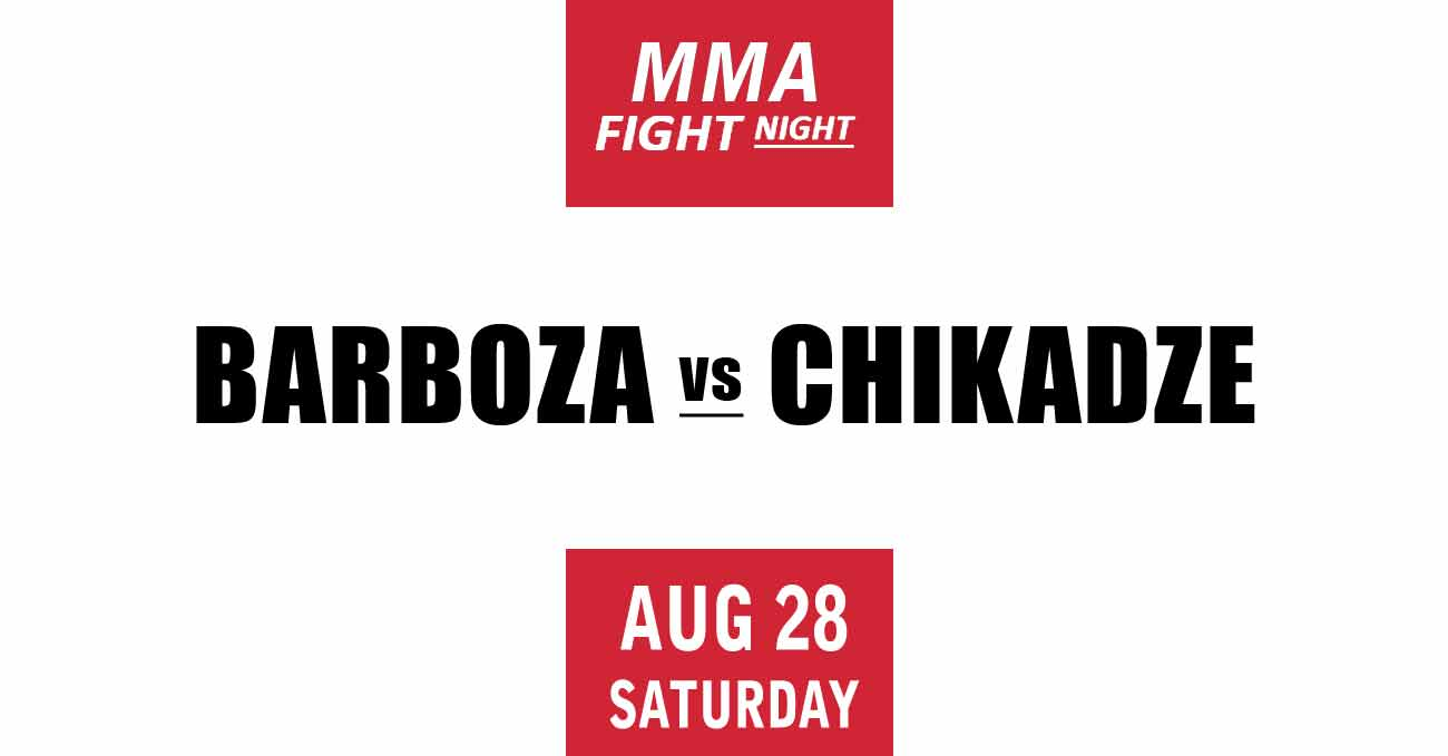 Edson Barboza vs Giga Chikadze full fight video UFC Vegas 35 poster by ATBF