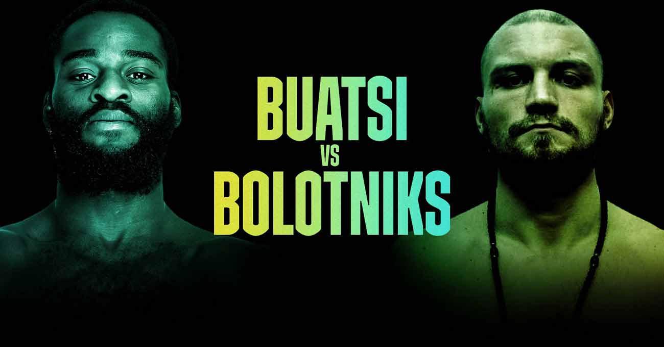 Joshua Buatsi vs Ricards Bolotniks full fight video poster 2021-08-14